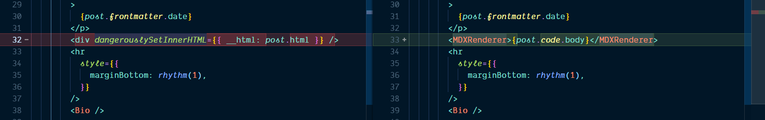 replace dangerously set html