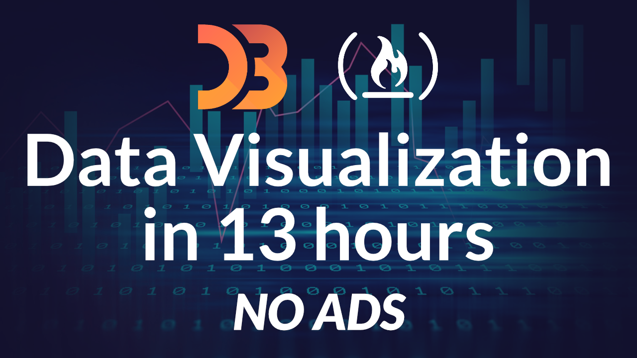 Learn data visualization using D3 js with a free 13-hour course