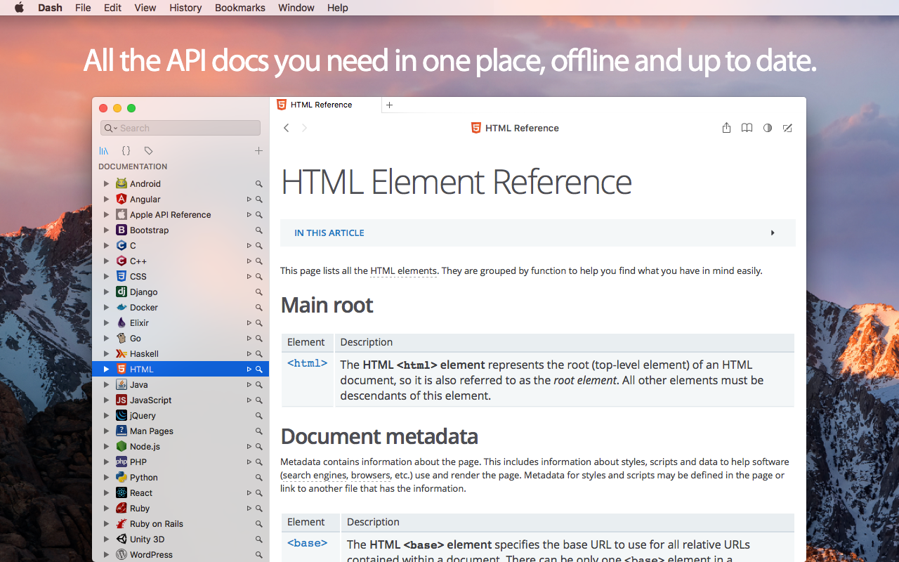 Quickly Access API Documentation of Your Favorite Languages
