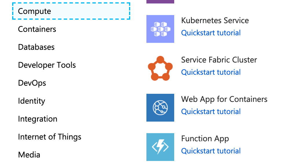 Creating a function app in Azure's web portal