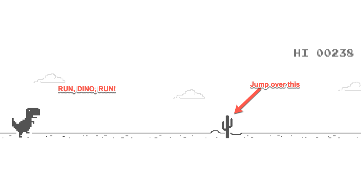 How to Play the No Internet Google Chrome Dinosaur Game - Both Online and Offline 2