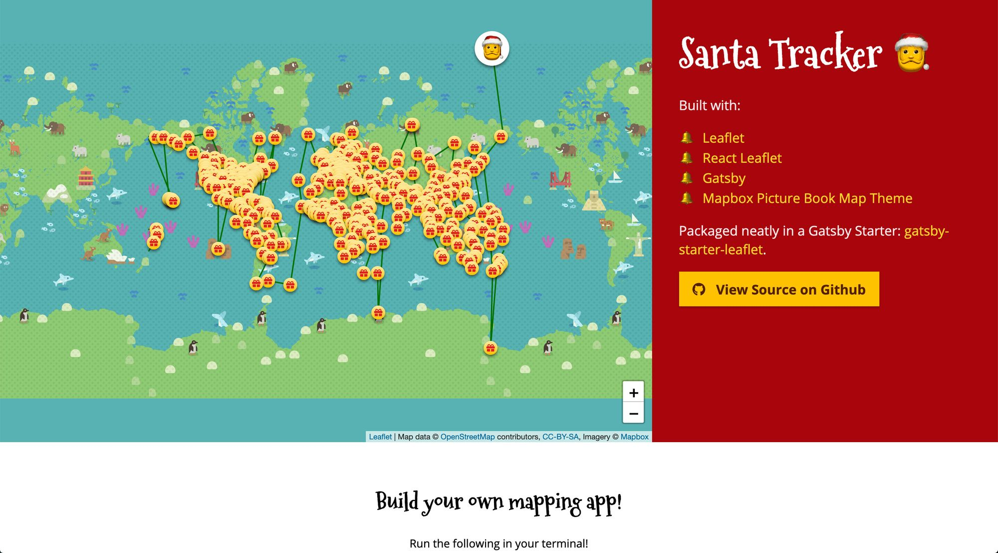 How to Create your own Santa Tracker with Gatsby and React ... Santa Map Tracker on santa satan, santa posters, santa visit, baseball map tracker, santa schedule, santa home,