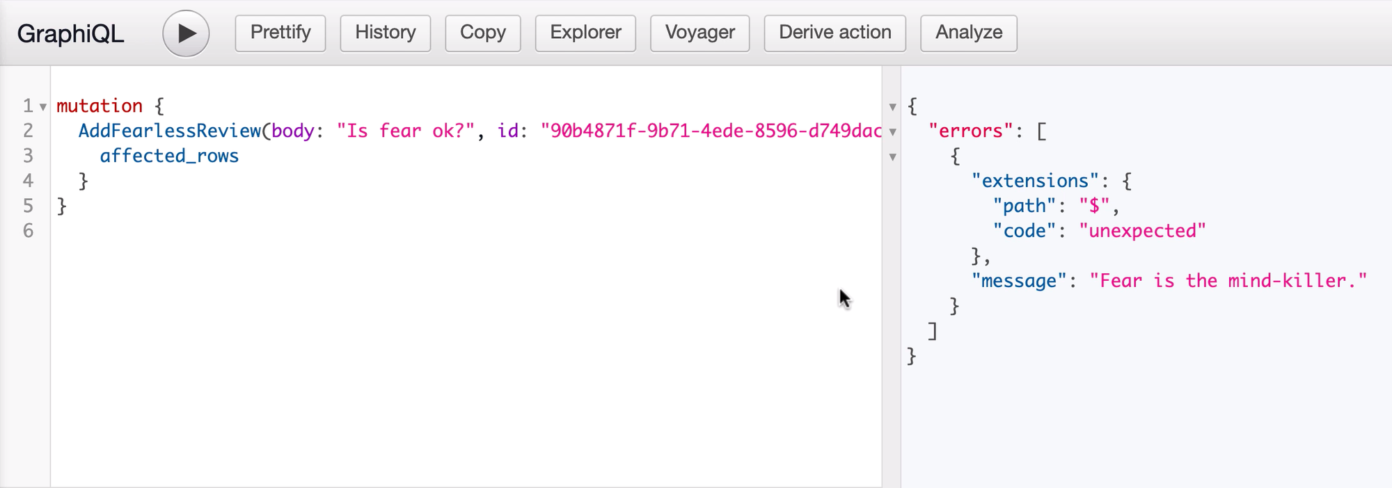 Testing our business logic in the console