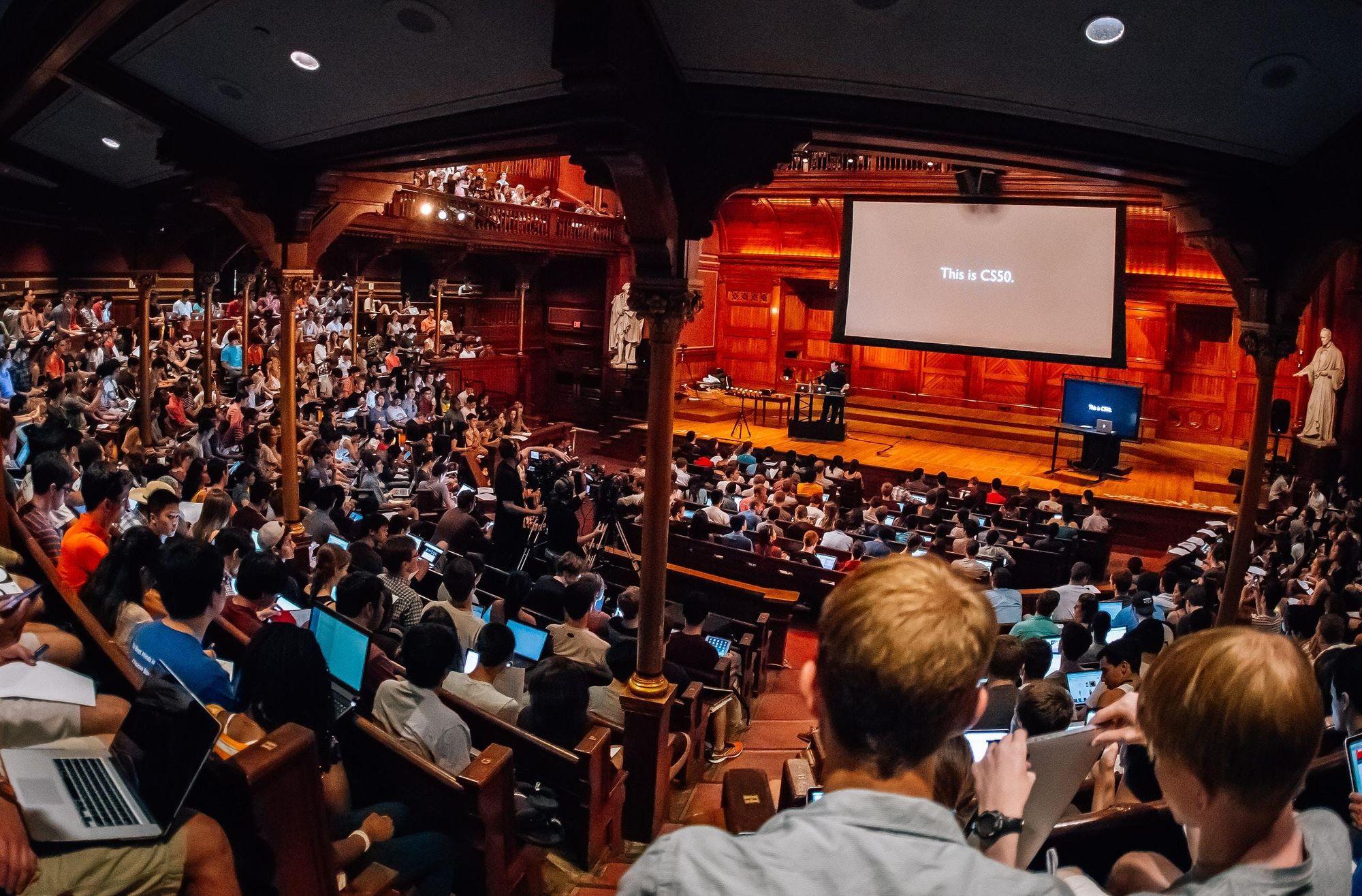 CS50 in Harvard's Sanders Theater
