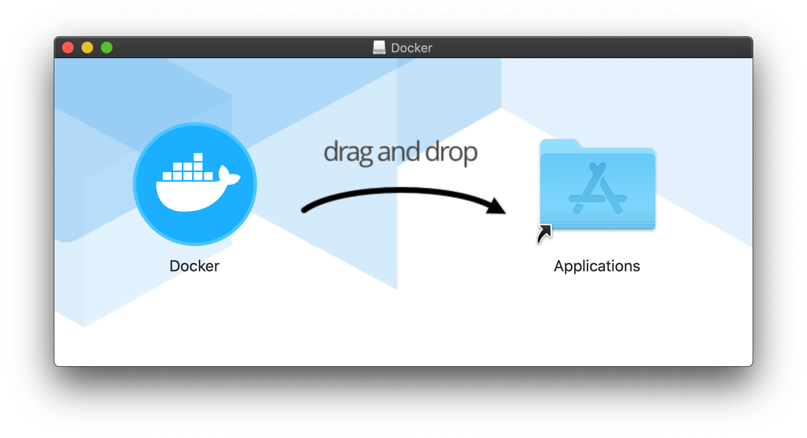 *Docker*を*Application*ディレクトリにドラッグアンドドロップします