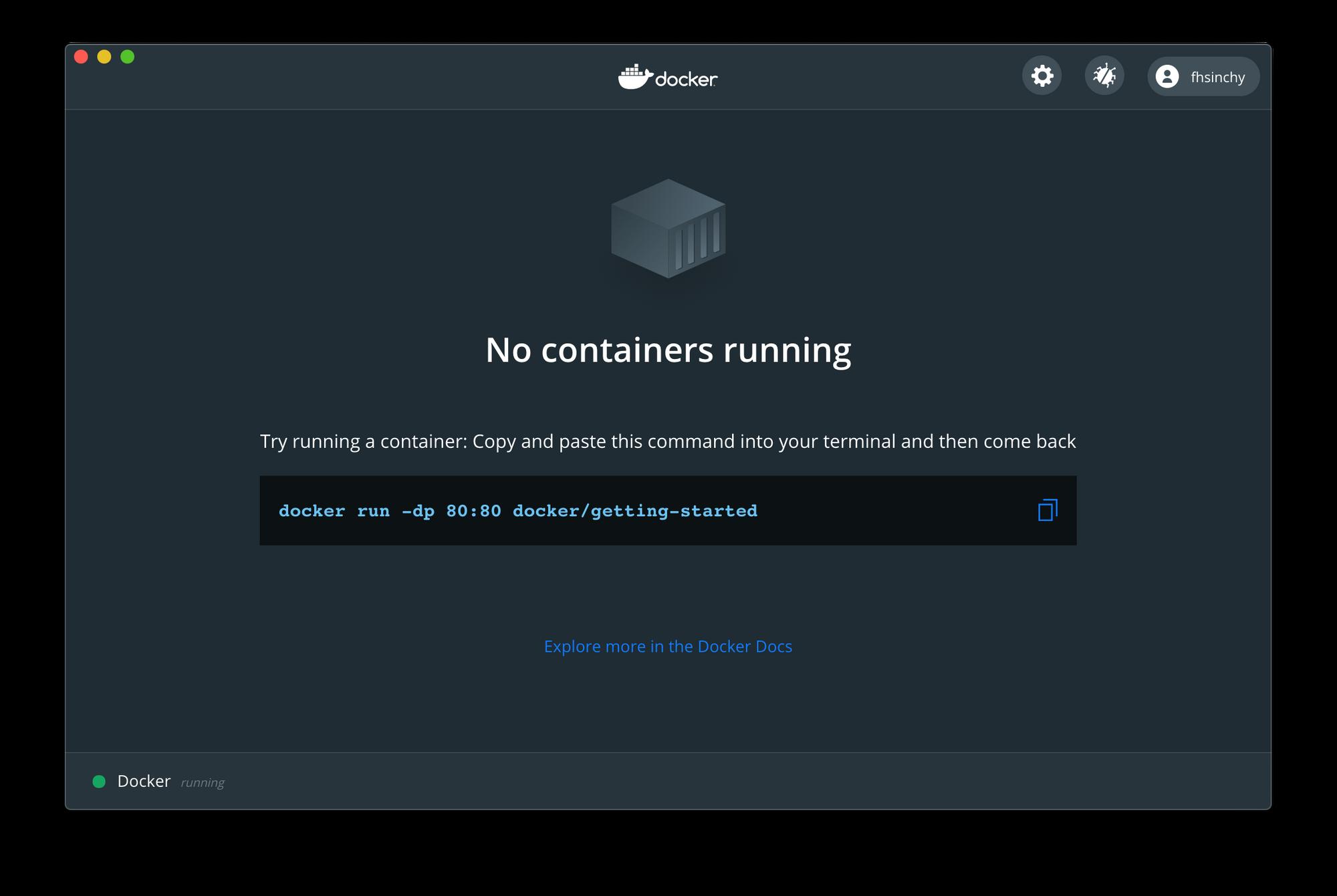 Dockerダッシュボード