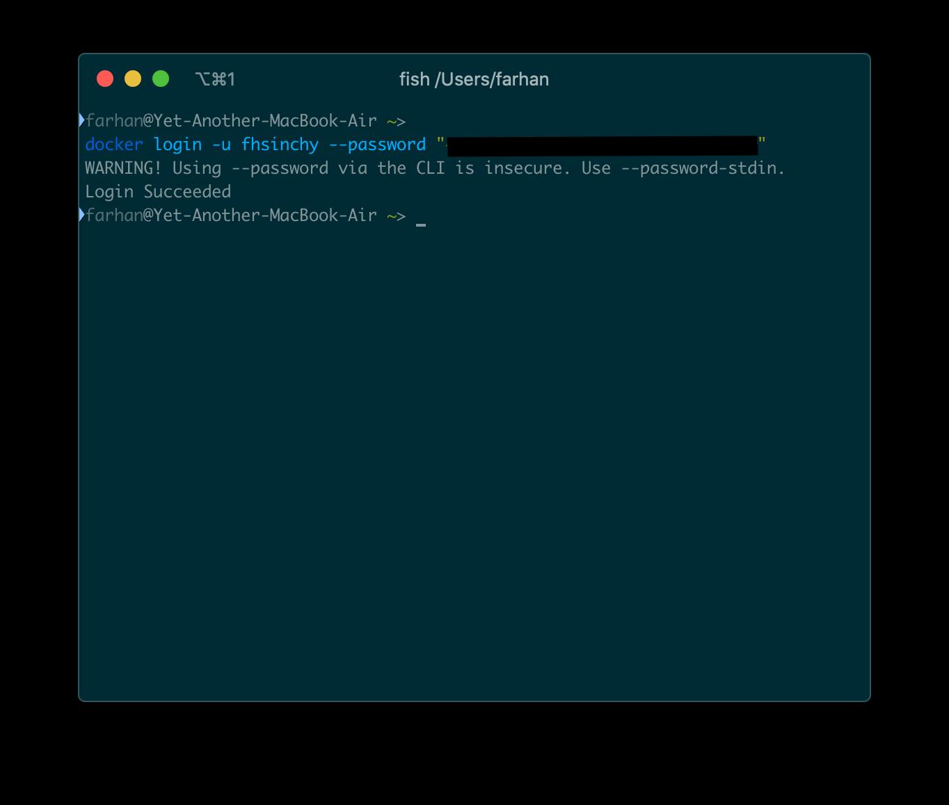 docker login コマンドを使用してサインインします