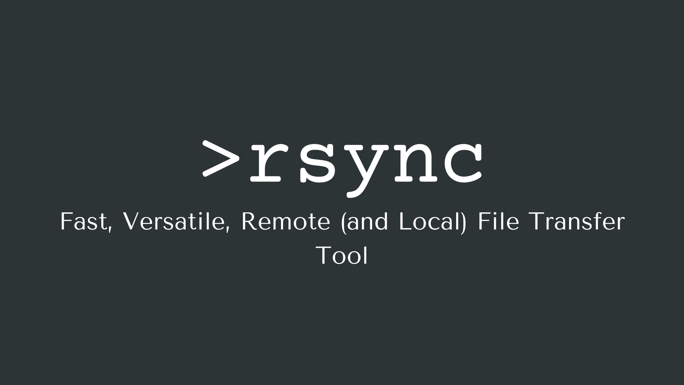 RSync Examples – Rsync Options and How to Copy Files Over SSH