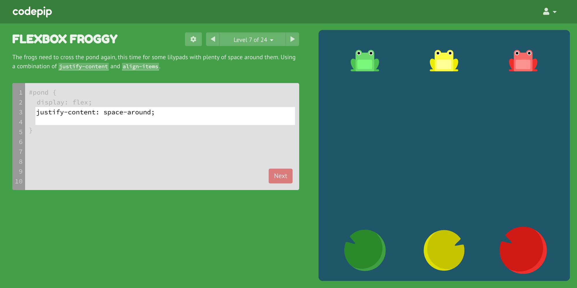 codepip.com_games_flexbox-froggy_
