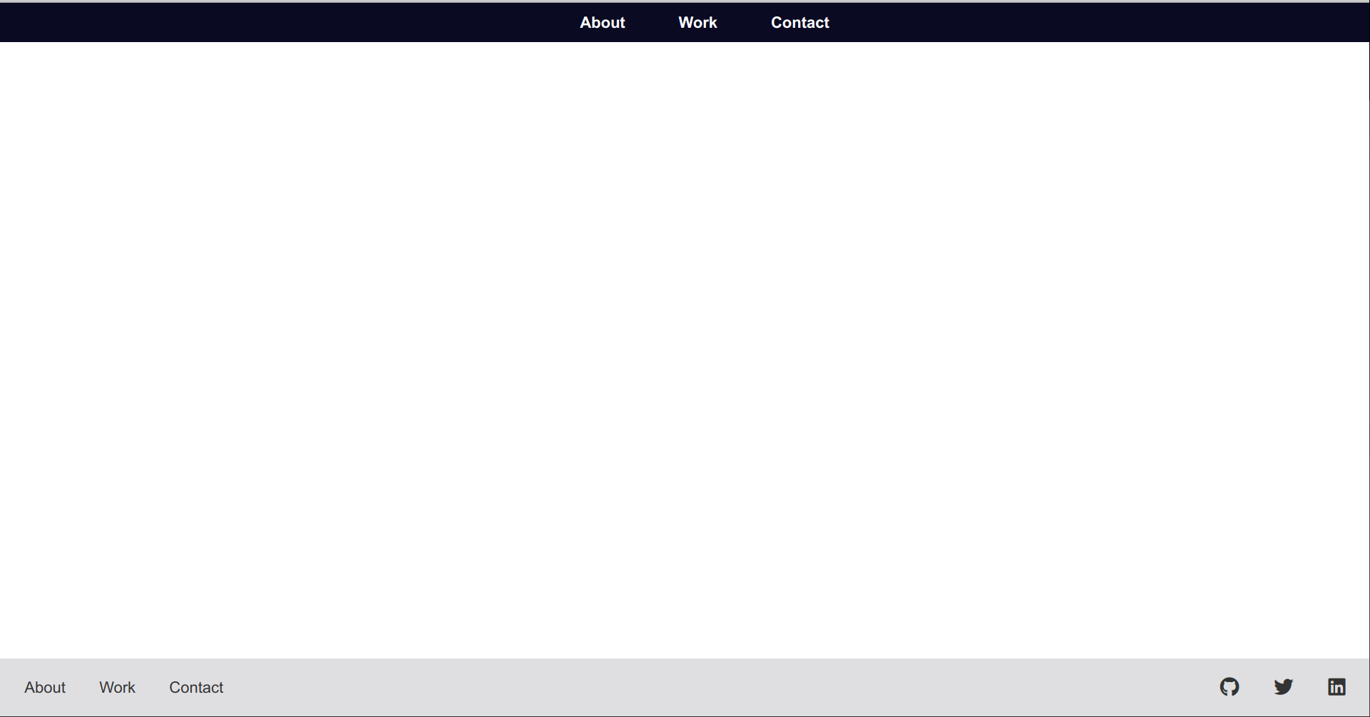 The browser with the Shadow DOM header component and regular footer component.