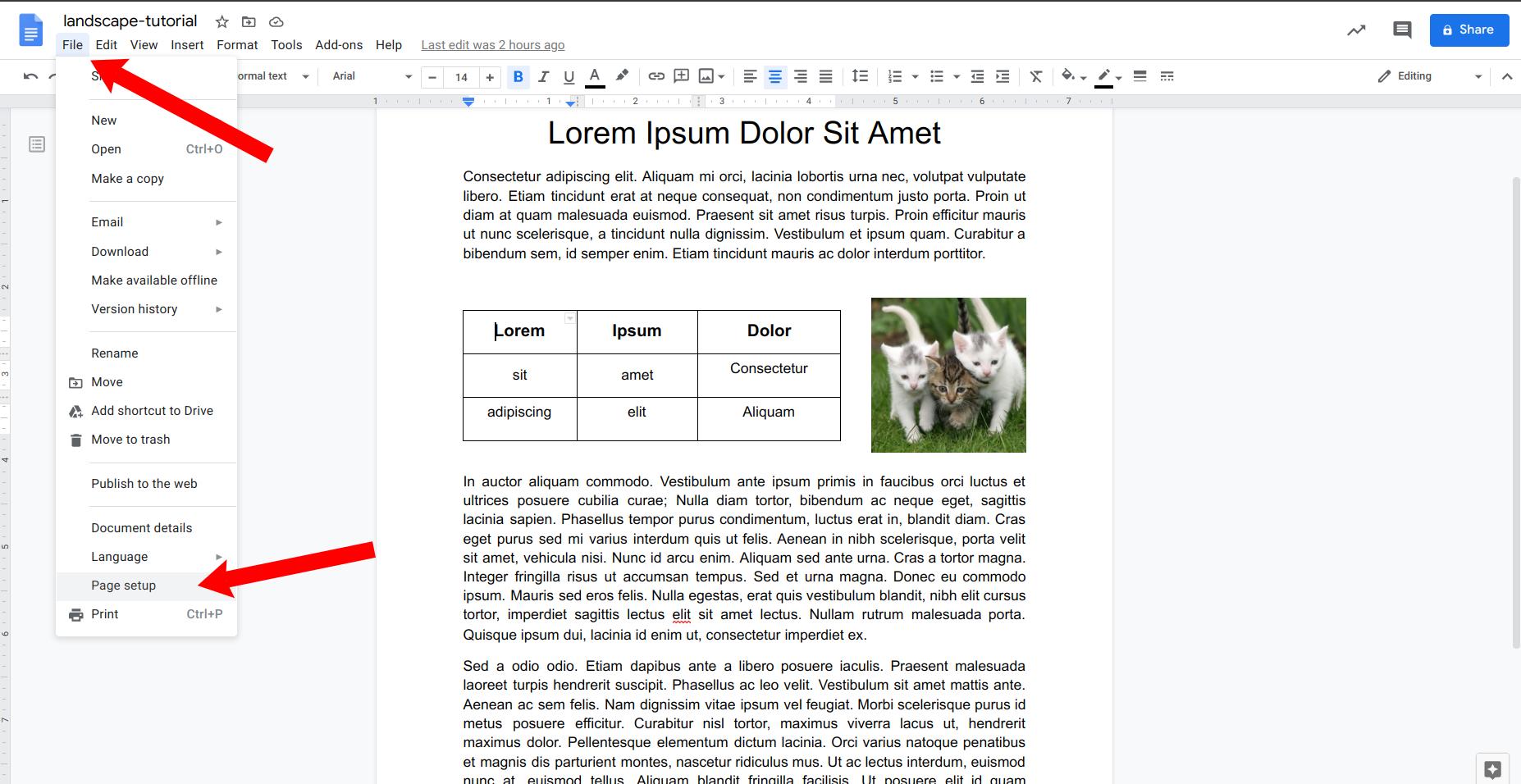 How To Make Google Docs Landscape Quick Guide