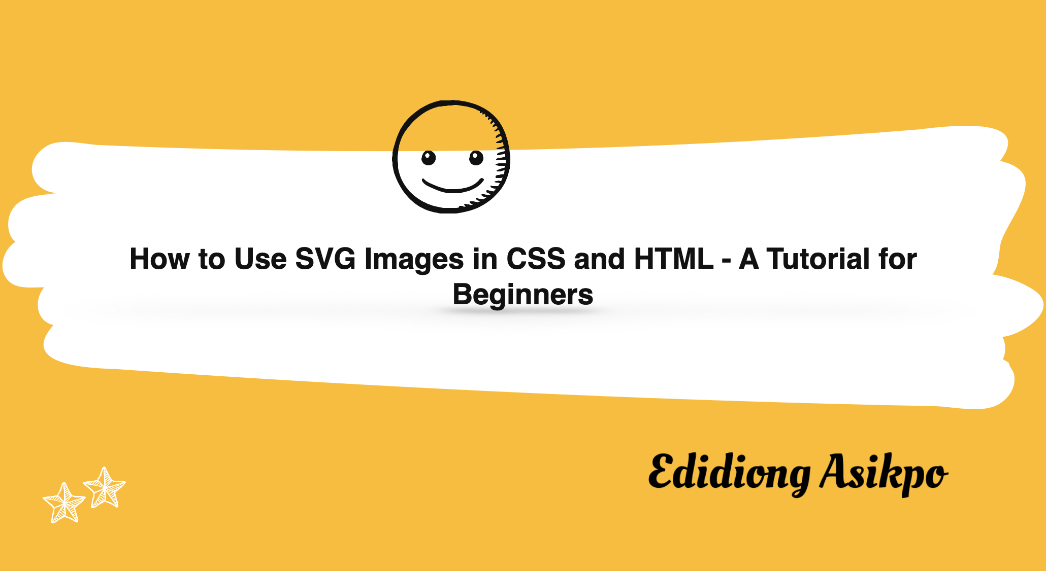 How to Use SVG Images in CSS and HTML – A Tutorial for Beginners