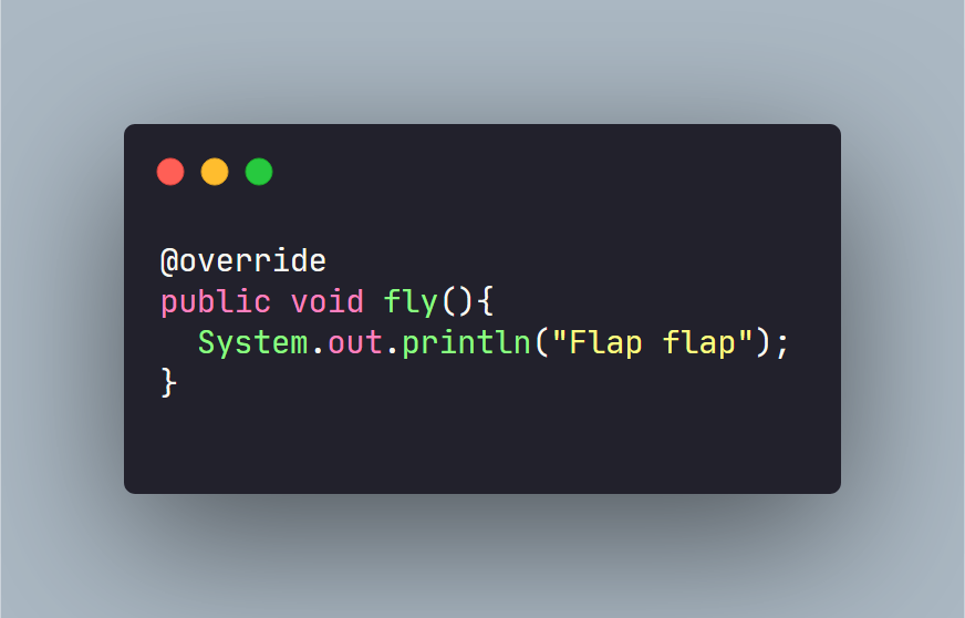 override annotation