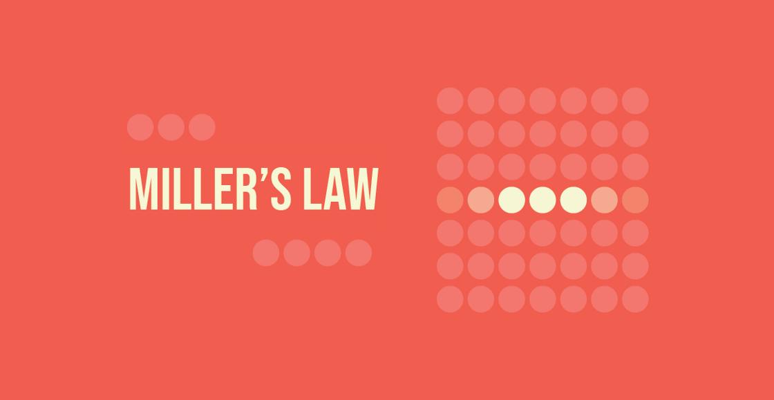 A poster illustration of Miller's Law.
