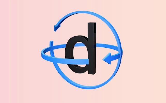 A 3D animation of the Dyslexie font.