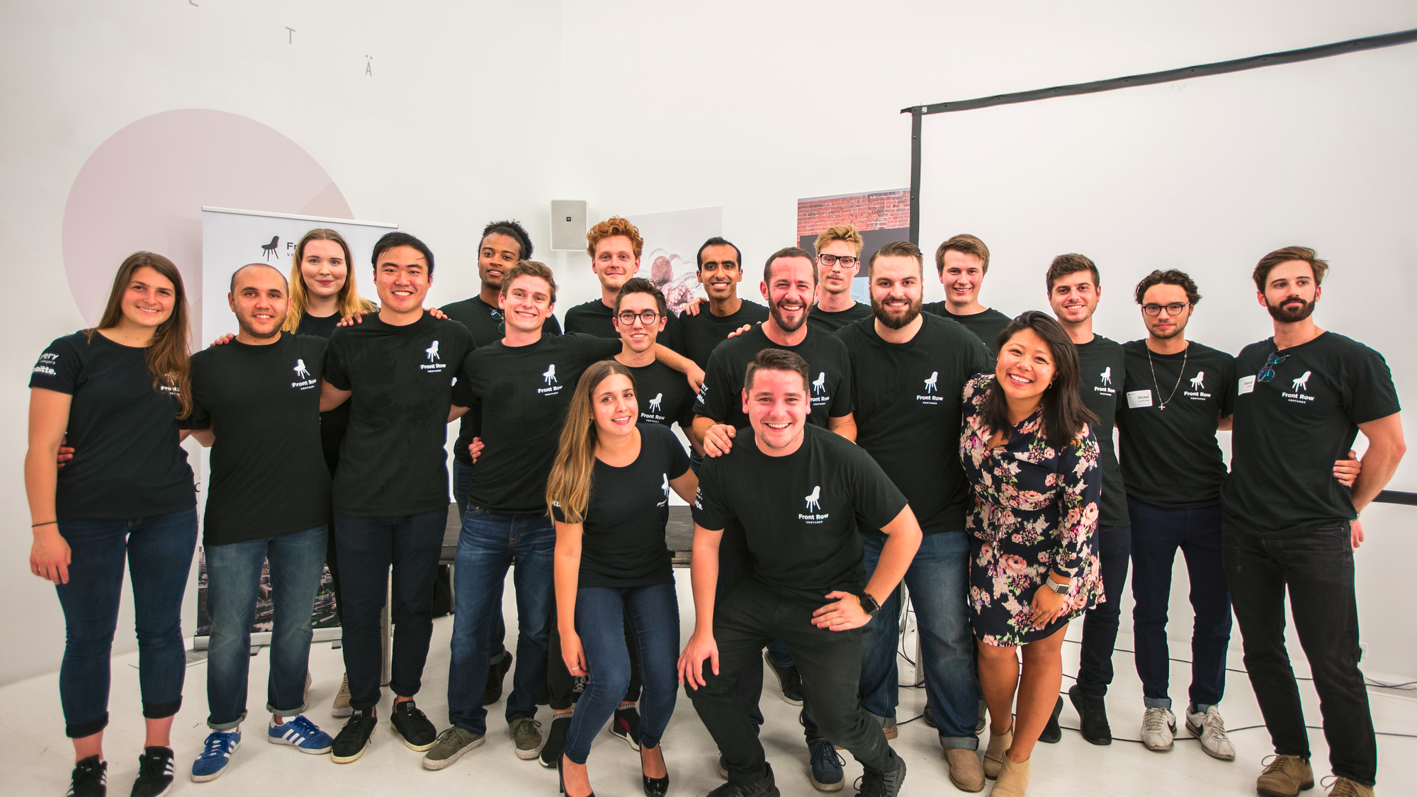 The team of 20 people from Front Row Venture