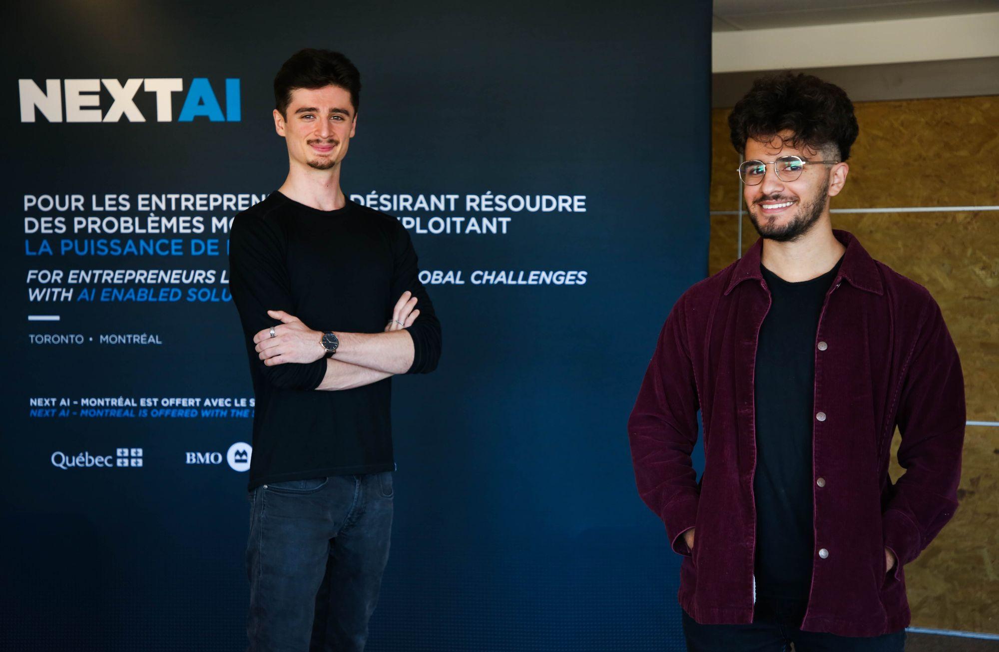 The CEO and CTO of the Company GRAD4 at NEXT AI Demo Day