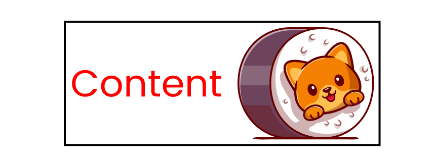 Cute cat image to demonstrate content within the box model