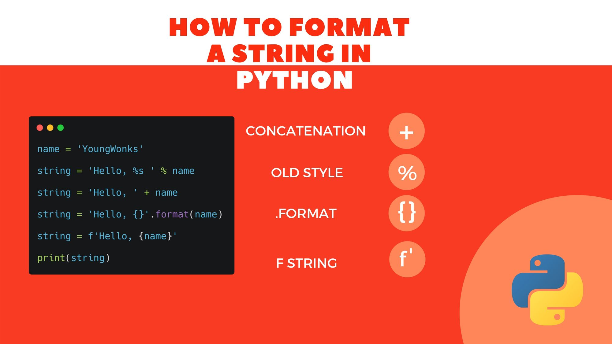 How to Format a String in Python