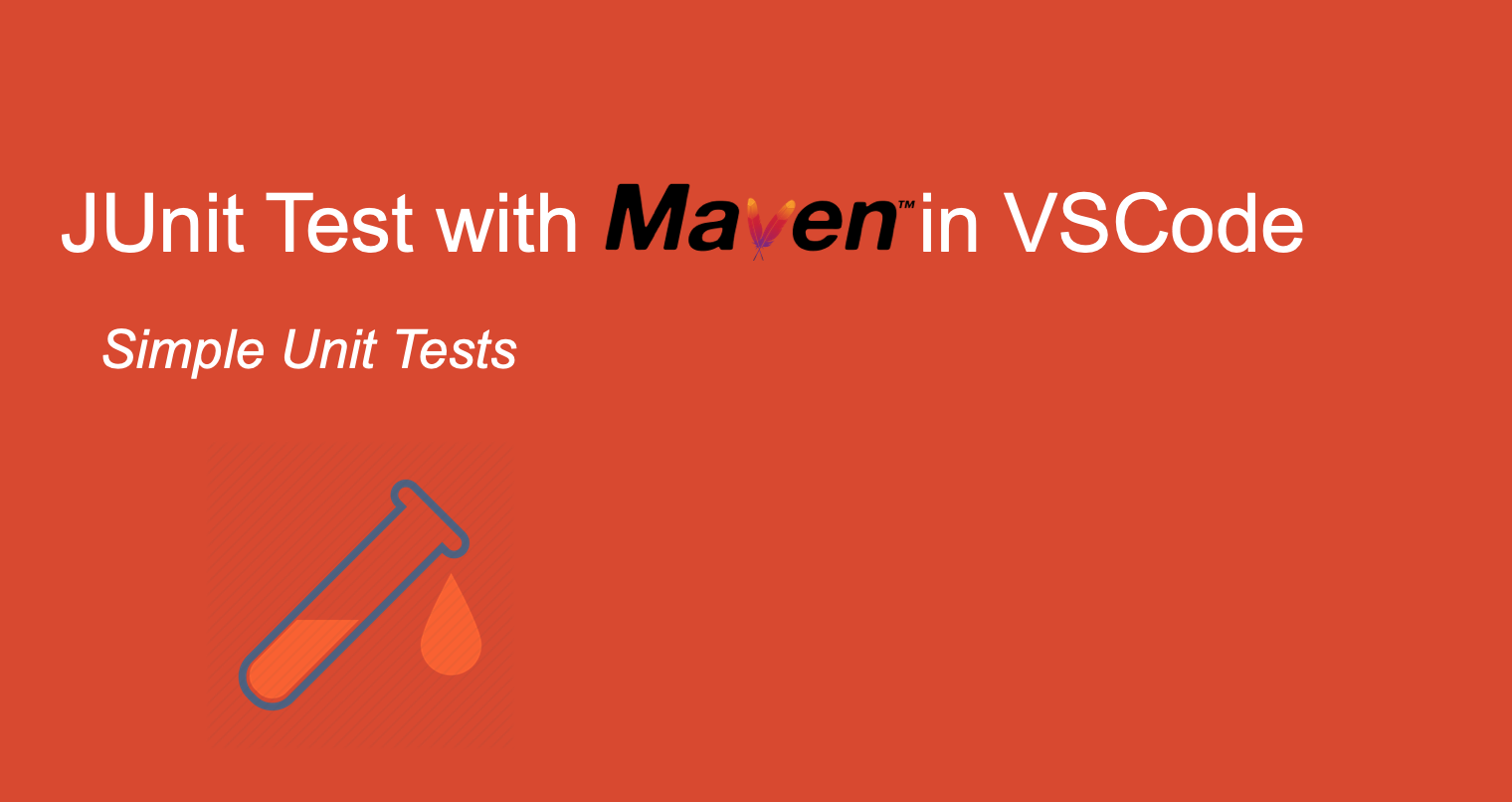 JUnit Test with Maven in VSCode