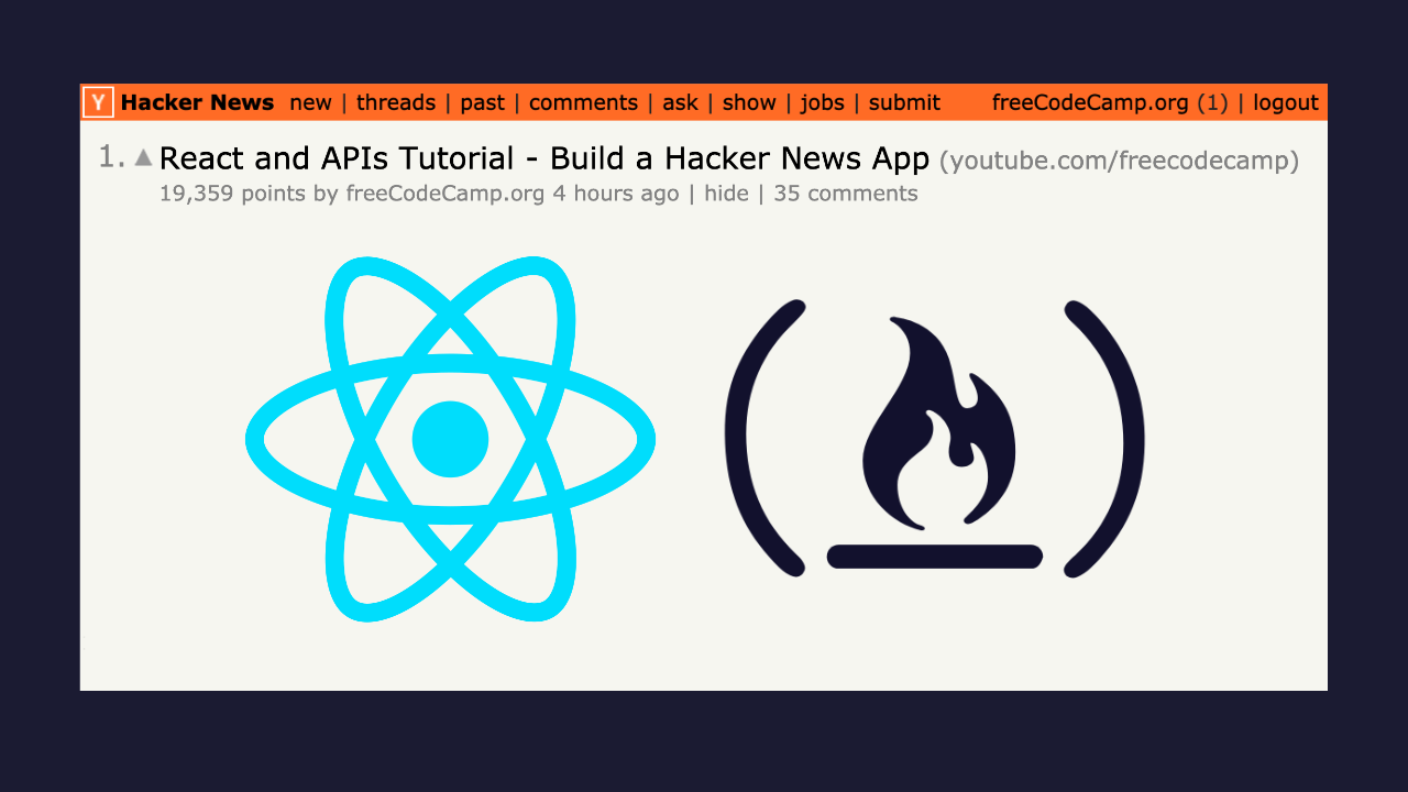 Learn how to use APIs with React by building a Hacker News API application