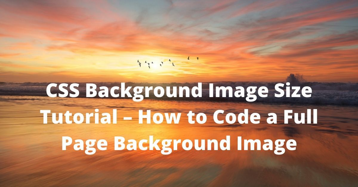 Css Background Image Size Tutorial How To Code A Full Page Background Image