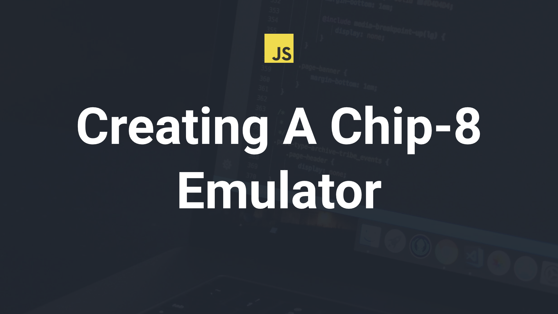 How to Create Your Very Own Chip-8 Emulator