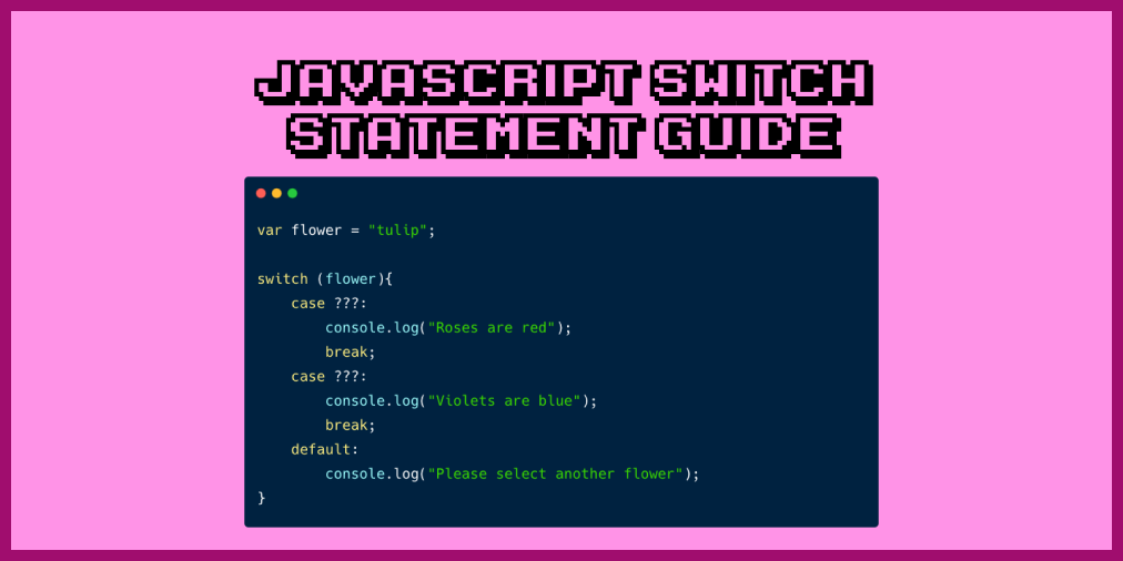 JavaScript Switch Statement – With JS Switch Case Example Code