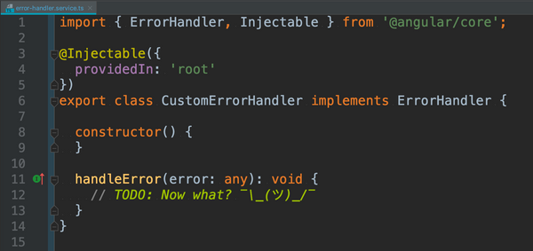 What could go wrong? How to handle errors in Angular