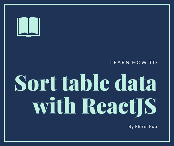 How to sort table data with React