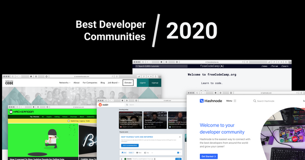 The Best Developer Communities to Join in 2020