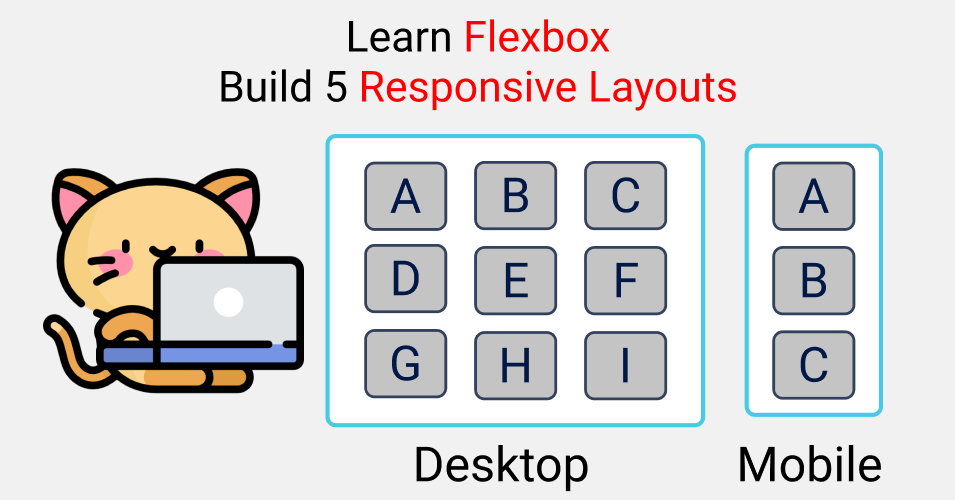 Learn CSS Flexbox by Building 5 Responsive Layouts