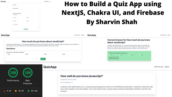 How to Build a Quiz App using NextJS, Chakra UI, and Firebase