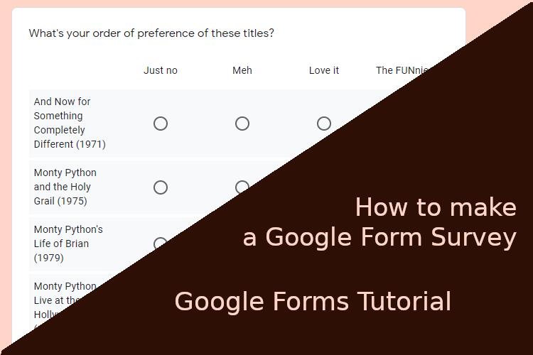 Image for How to Make a Google Form Survey – Google Forms Tutorial
